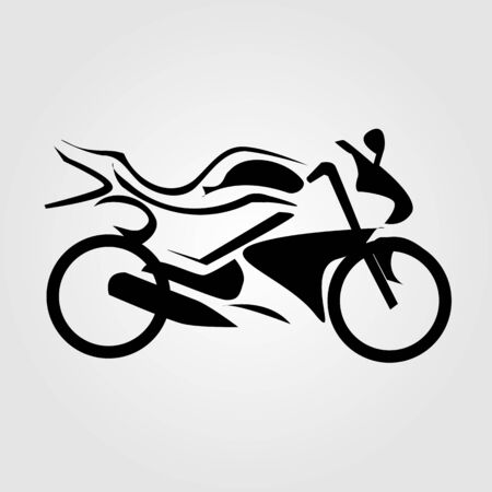 paddock: Abstract drawing of a motorbike
