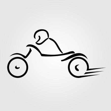Biker showing road safety Ilustrace