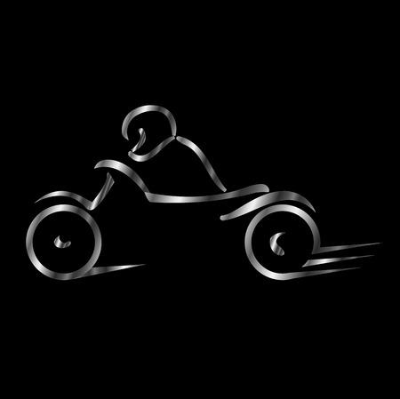 spindle: Biker showing road safety Illustration