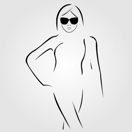 Lady porter nuances et maillot de bain Banque d'images - 46281337
