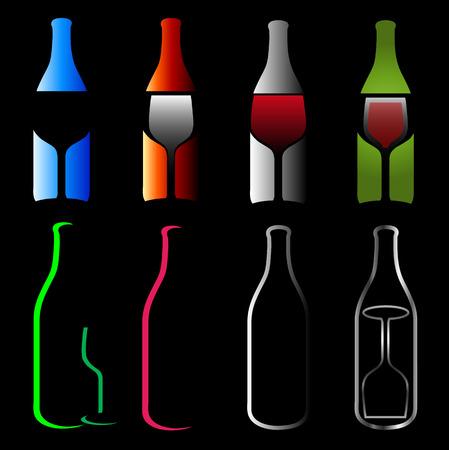 Bottles and glasses- spirits