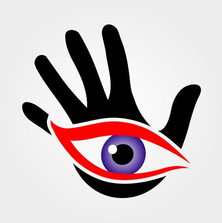 cognicion: Ojo que emerge de una palma