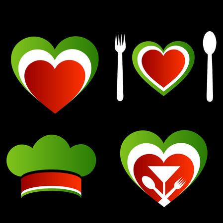 cuisine: Italian cuisine symbols