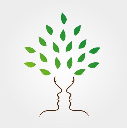 Gezichten van het vormen van een boom