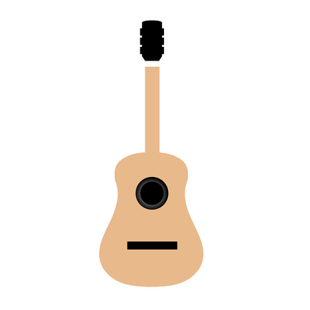 accords: Acoustic guitar is simple colors Illustration
