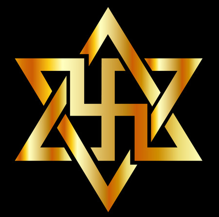 messengers of god: The Raelians symbol in gold