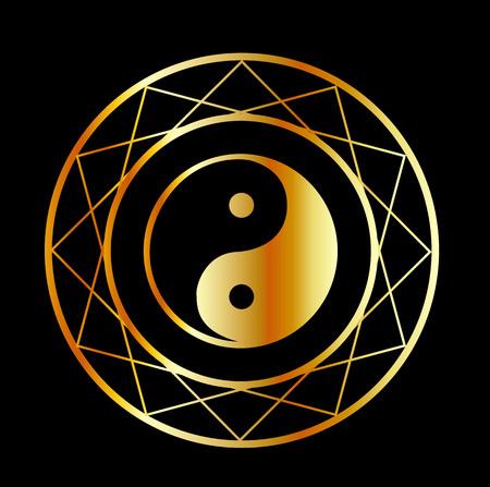 penumbra: Golden symbol of Taoism Daoism