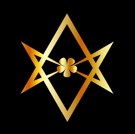 rosicrucian: Unicursal hexagram symbol Illustration