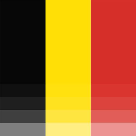 belgie: The National Flag of Belgium Illustration
