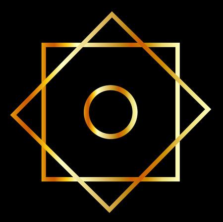 to rub: Rub el Hizb symbol- Muslim religious symbol Illustration