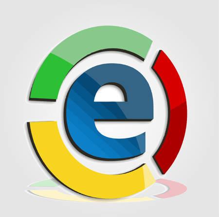 e commerce icon: E commerce colorful icon