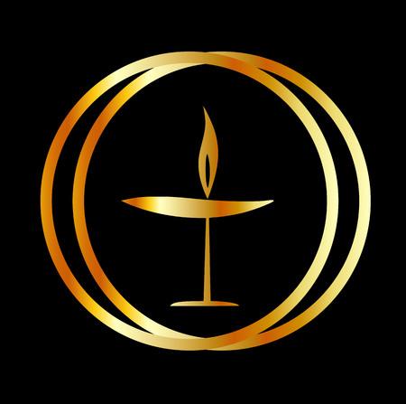炎聖杯 - ユニテリアニズムとユニテリアン ・ ユニヴァーサリズムのシンボル