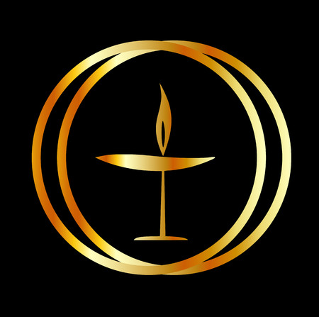 doctrine: The Flaming Chalice- the symbol of Unitarianism and Unitarian Universalism
