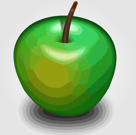 Green apple 3d rendering