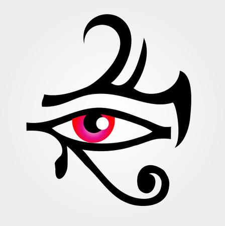 The eye of Horus Иллюстрация