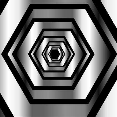 metallic: Metallic hexagonal illusion in metallic colors
