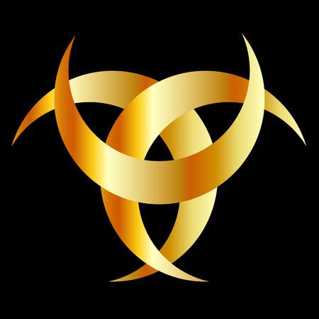 cultic: Horned Triskele- The horn of Odin