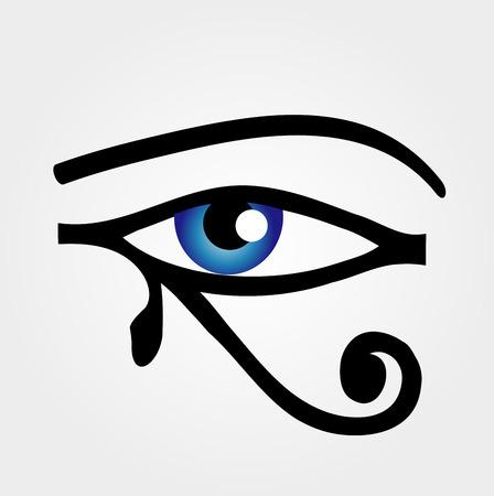 ojo de horus: El ojo de Horus Vectores