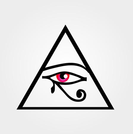 ojo de horus: El ojo de Horus o el símbolo de los Illuminati Vectores