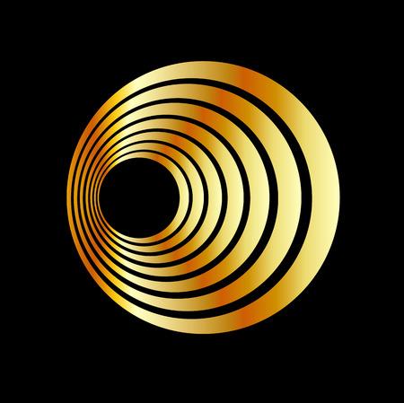 Glossy icon with optical illusion  イラスト・ベクター素材