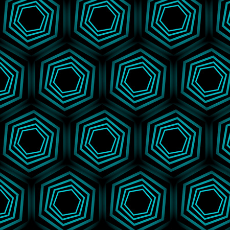 optical illusion: Turquoise optical illusion background Illustration