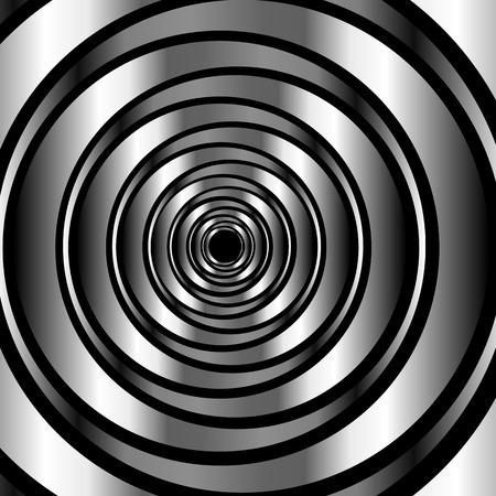 anneau métallique de haute technologie illusion d'optique background- Vecteurs