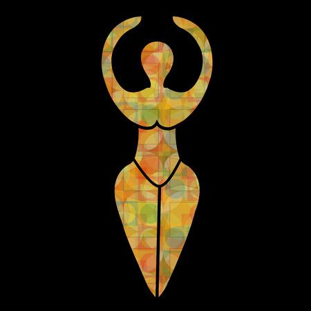Simbolo della dea Wiccan Archivio Fotografico - 53551781