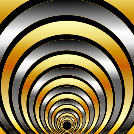 metallic: Illusion with metallic rings Illustration