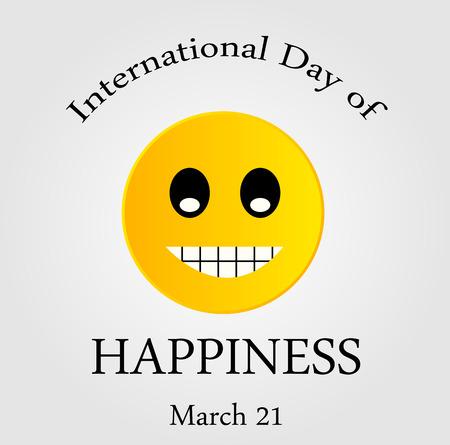 Internationale Dag van de Happiness- Commemorative Dag
