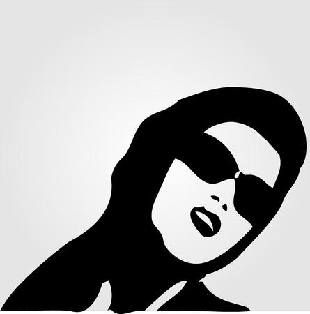 eye wear: Woman in trendy eye wear for summer