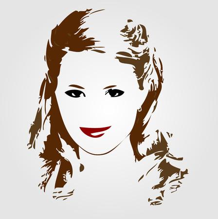 brunette: Portrait of a smiling brunette