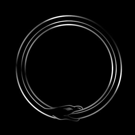 ウロボロスの蛇のシンボル 写真素材 - 53551786