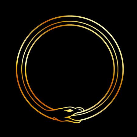 The symbol of Ouroboros snake