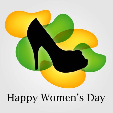 pump shoe: Graphic for womens day Illustration