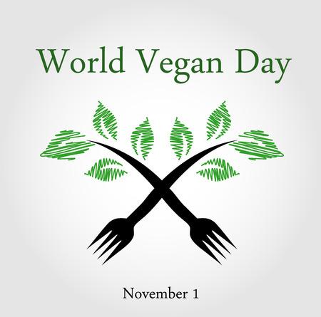 seedling: Seedling from a fork- World vegan day November 1