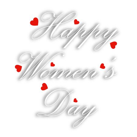 Greeting card for international womens day Illustration