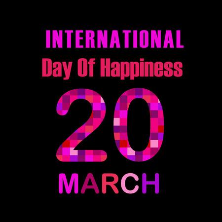 Internationale Dag van de Happiness- Commemorative Dag 20 maart