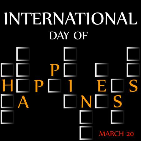 행복의 날 - 기념일 3 월 20 일 카드 스톡 콘텐츠 - 53552924