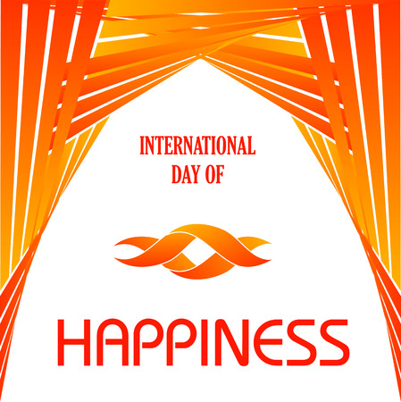 Grafisch voor Internationale Dag van Happiness- Commemorative Dag 20 maart Stock Illustratie