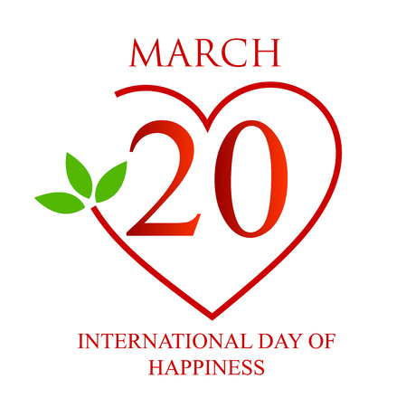 Internationale Dag van het Geluk kaart