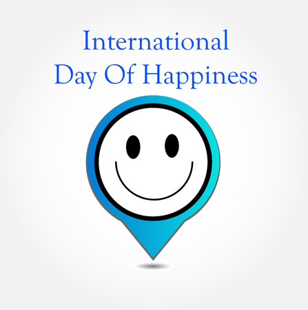 commemorative: Placement showing a smiley symbolizing the International Day of Happiness- Commemorative Day March 20