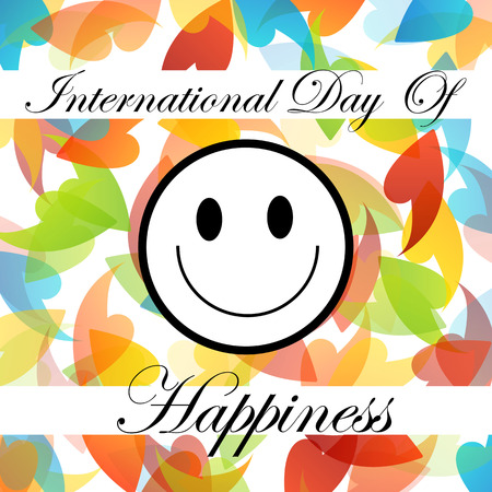 commemorative: Card for International Day of Happiness- Commemorative Day March 20