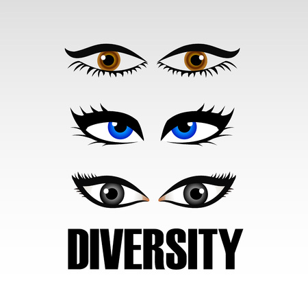 brother brotherhood: Eyes of women showing diversity