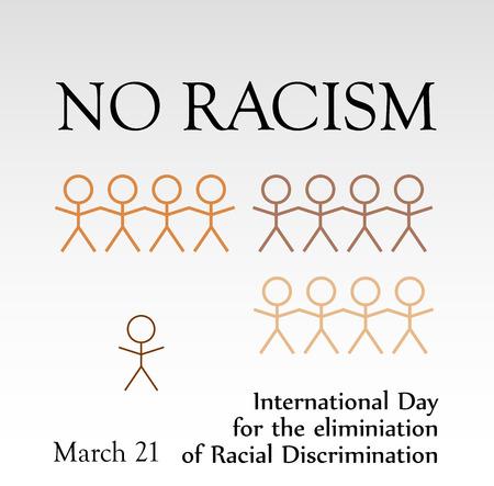 racismo: No racismo Vectores