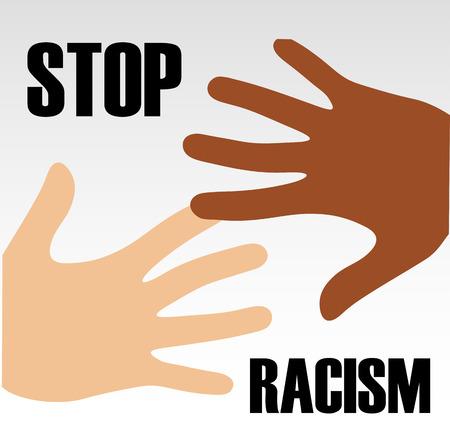 racismo: Detener el Racismo Vectores
