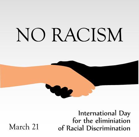 racismo: Día Internacional para la eliminación de racismo- 21 de de marzo de