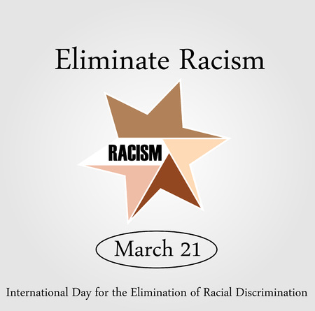 brother brotherhood: No Racism- Graphic showing unity- International day for the elimination of Racism- March 21
