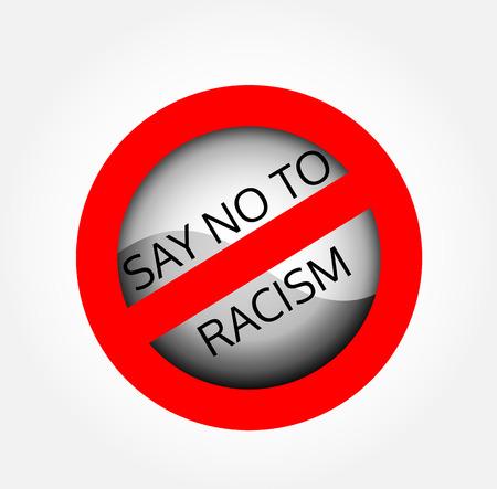 racismo: Di no al racismo Vectores