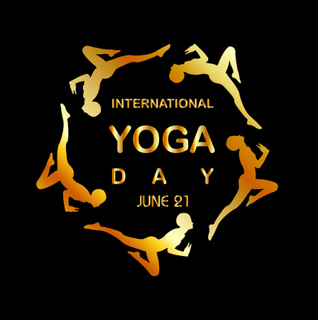 21: International yoga day june 21 Illustration