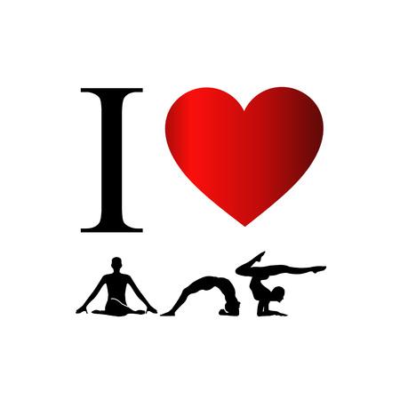 I love yoga and meditation  イラスト・ベクター素材